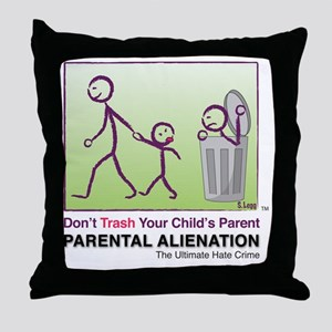 Parental Alienation T-shirt Throw Pillow