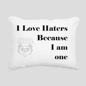 haters Rectangular Canvas Pillow