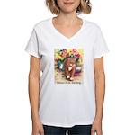 Blame it on the Dog Women's V-Neck T-Shirt