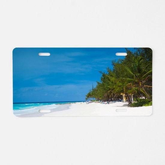 Tropical Beach Barbados Aluminum License Plate