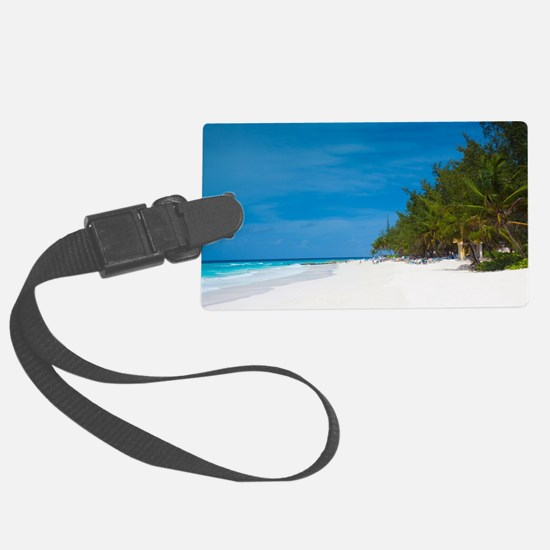 Tropical Beach Barbados Luggage Tag