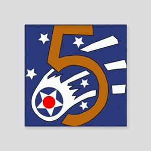 """5th_usaaf - cropped-10 Square Sticker 3"""" x 3"""""""