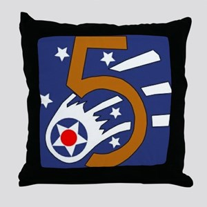 5th_usaaf - cropped-10 Throw Pillow