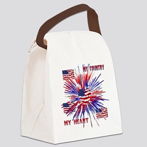 My_Country_My_Heart Canvas Lunch Bag