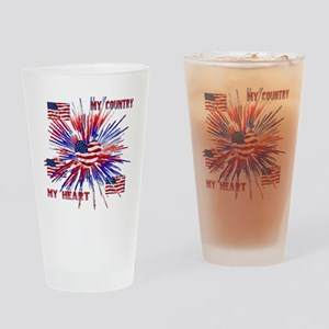 My_Country_My_Heart Drinking Glass