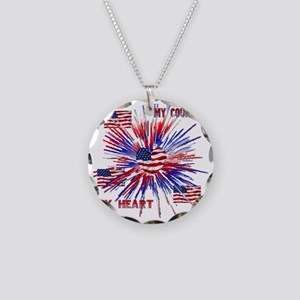 My_Country_My_Heart Necklace Circle Charm