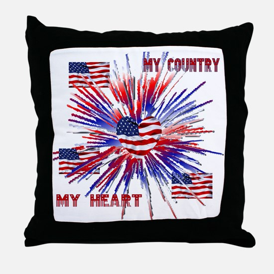 My_Country_My_Heart Throw Pillow