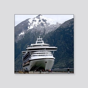 "Cruise Alaska Square Sticker 3"" x 3"""