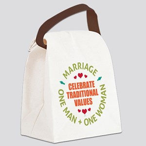 june11_celebrate_traditioal_value Canvas Lunch Bag
