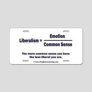 Liberalism is equal to Aluminum License Plate