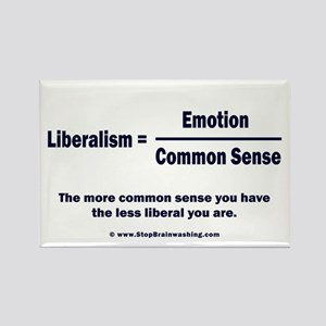 Liberalism is equal to Rectangle Magnet