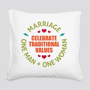 june11_celebrate_traditioal_v Square Canvas Pillow