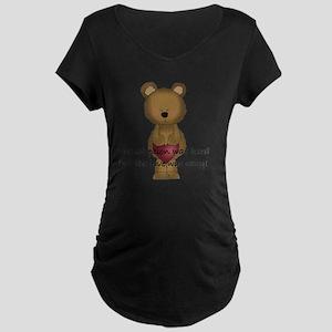 4 adoption was hard-001 Maternity Dark T-Shirt