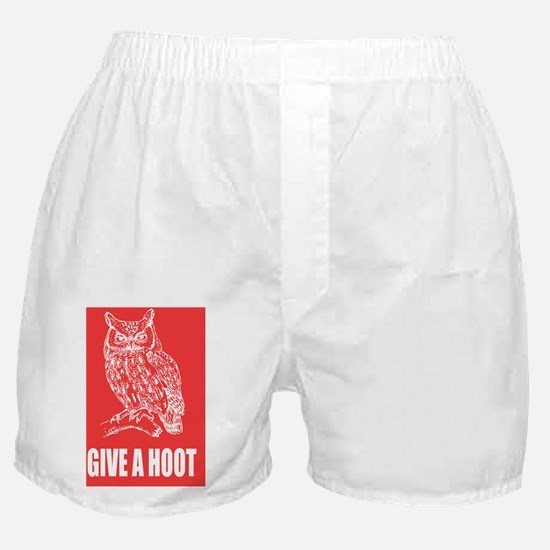 give-a-hoot-owl-poster Boxer Shorts
