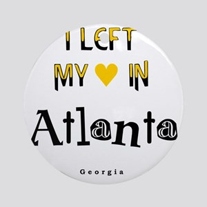Atlanta_10x10_apparel_LeftHeart_Bla Round Ornament