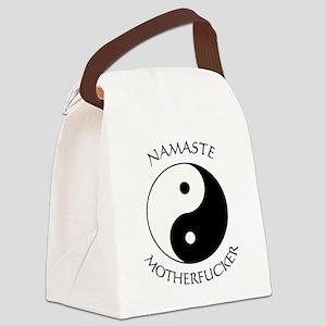 Namaste Motherfucker 4.pptx Canvas Lunch Bag