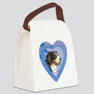 berner-heart Canvas Lunch Bag
