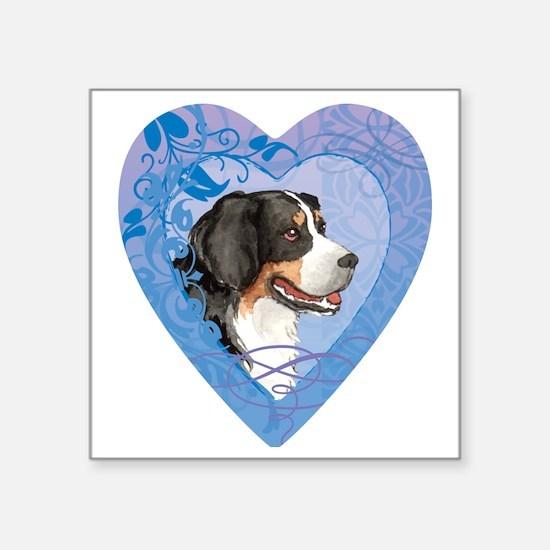 "berner-heart Square Sticker 3"" x 3"""