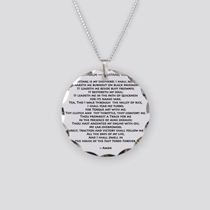 10x10_must psalmBKprntFlt co Necklace Circle Charm