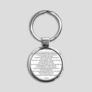 10x10_must psalmBKprntFlt copy Round Keychain
