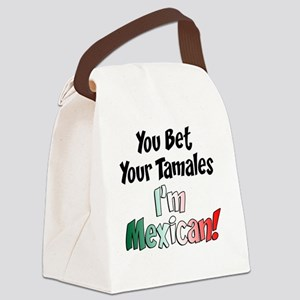 Bet Your Tamales Mexican Canvas Lunch Bag