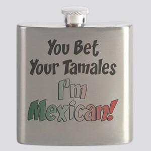 Bet Your Tamales Mexican Flask