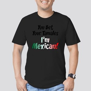 Bet Your Tamales Mexic Men's Fitted T-Shirt (dark)