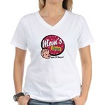 Mom's Diner Women's V-Neck T-Shirt