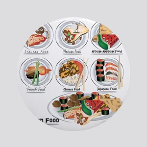 What is American Food? Round Ornament