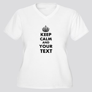 Keep Calm Customi Women's Plus Size V-Neck T-Shirt