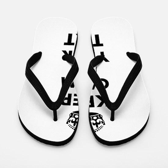 Keep Calm Customize Flip Flops