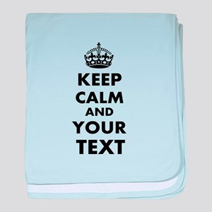 Keep Calm Customize baby blanket