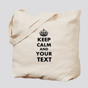 Keep Calm Customize Tote Bag