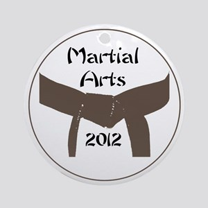 Martial Arts Brown Belt Round Ornament