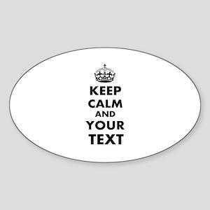 Keep Calm Customize Sticker (Oval)