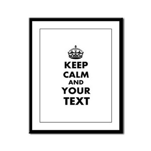 Keep Calm Customize Framed Panel Print