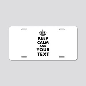 Keep Calm Customize Aluminum License Plate
