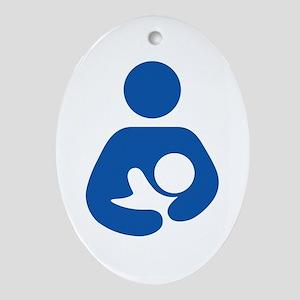 International Breastfeeding Oval Ornament