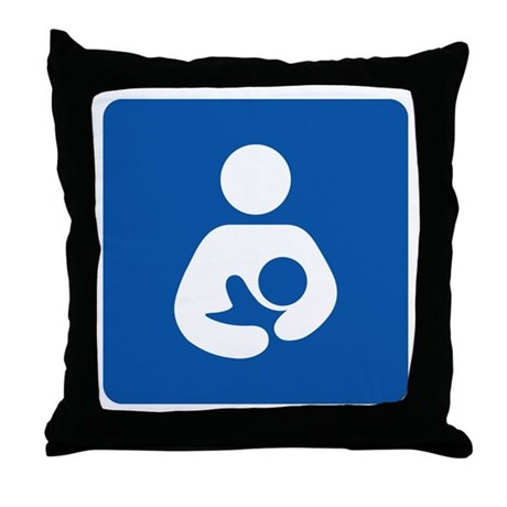 International Breastfeeding Throw Pillow