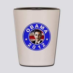 Obama 2012 logo Blue Shot Glass
