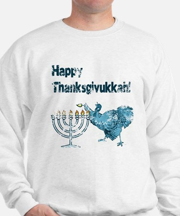Vintage Happy Thanksukkah Sweatshirt
