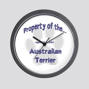 Australian Terrier Property Wall Clock