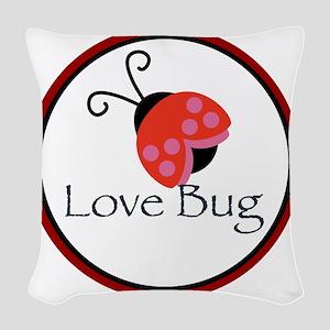Love Bug Woven Throw Pillow