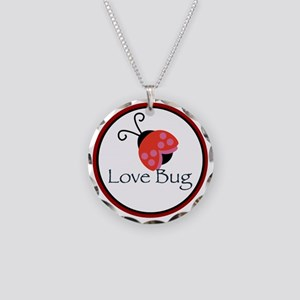 Love Bug Necklace Circle Charm