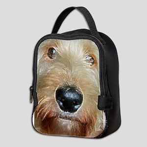 Big black squishy nose Neoprene Lunch Bag