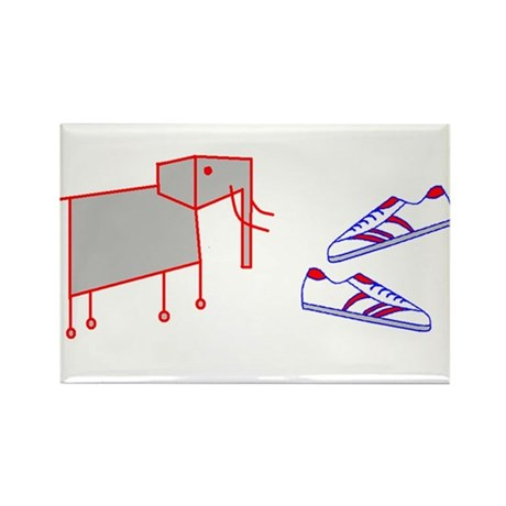 Elephant Shoes Rectangle Magnet