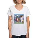 Cats Gone Wild Women's V-Neck T-Shirt