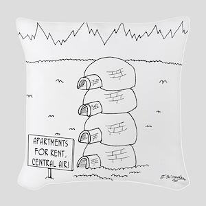 5920_apartment_cartoon Woven Throw Pillow