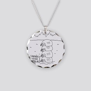 5920_apartment_cartoon Necklace Circle Charm
