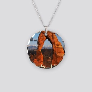 id_rather_be_in_Moab_Utah Necklace Circle Charm